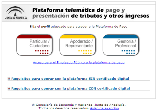 Incidencia pago telem tico modelo 046 eoi xauen for Oficina virtual junta