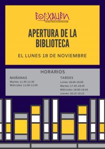 APERTURA BIBLIOTECA CURSO 2019_2020