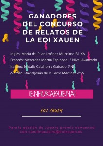 GANADORES DEL CONCURSO DE RELATOS de la EOI XAUEN